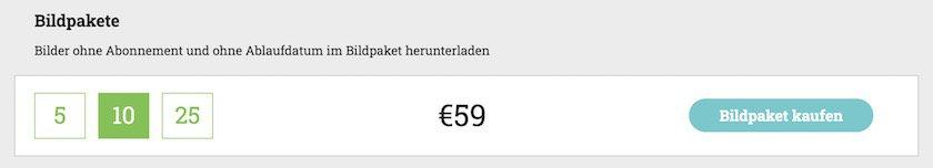 Preise Bildpakete bei adpic