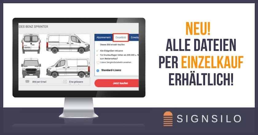 Neu! Alle Dateien per EINZELKAUF bei SignSilo erhältlich! - fotokaufen layout einzelkauf signsilo