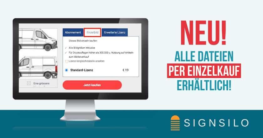 Neu! Alle Dateien per EINZELKAUF bei SignSilo erhältlich! - signsilo einzelbildkauf