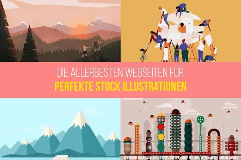 Die 6 besten Webseiten, um perfekte Stock Illustrationen zu kaufen! - fk layout 6beste illustrationen