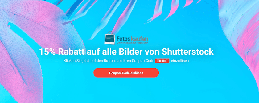 15% Rabatt Shutterstock
