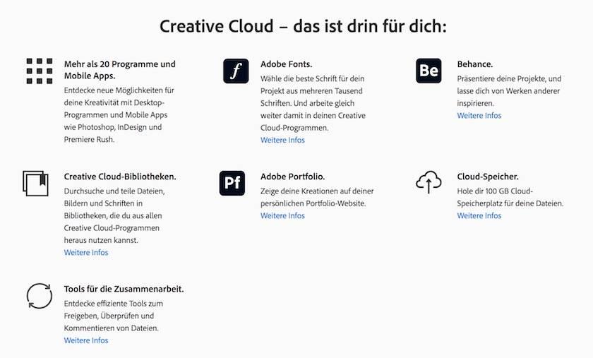 Adobe Creative Cloud Preise erklärt: Finden Sie  das passende Angebot für sich - adobe creativ cloud inhalt