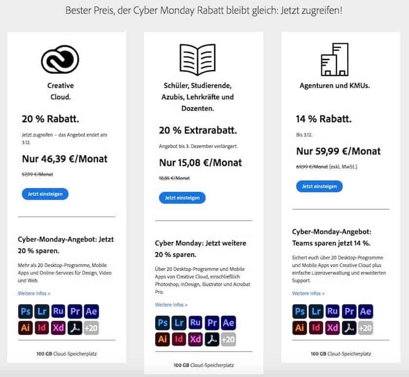 Black Friday 2020 & Cyber Monday 2020: Alle Stockfoto Angebote im Überblick - adobe creative cloud angebot cybermonday