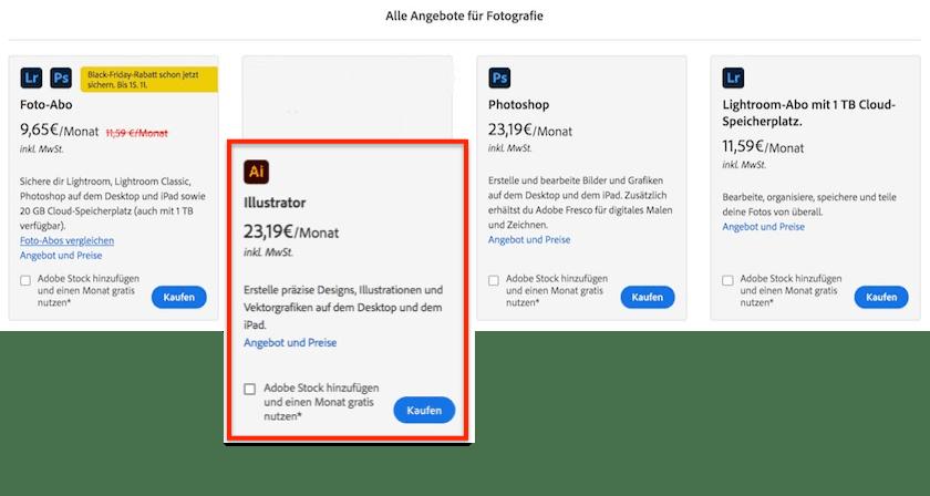 Adobe Creative Cloud Preise erklärt: Finden Sie  das passende Angebot für sich - adobe creative cloud fotografie