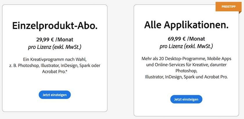 Adobe Creative Cloud Preise erklärt: Finden Sie  das passende Angebot für sich - adobe creative cloud team abo