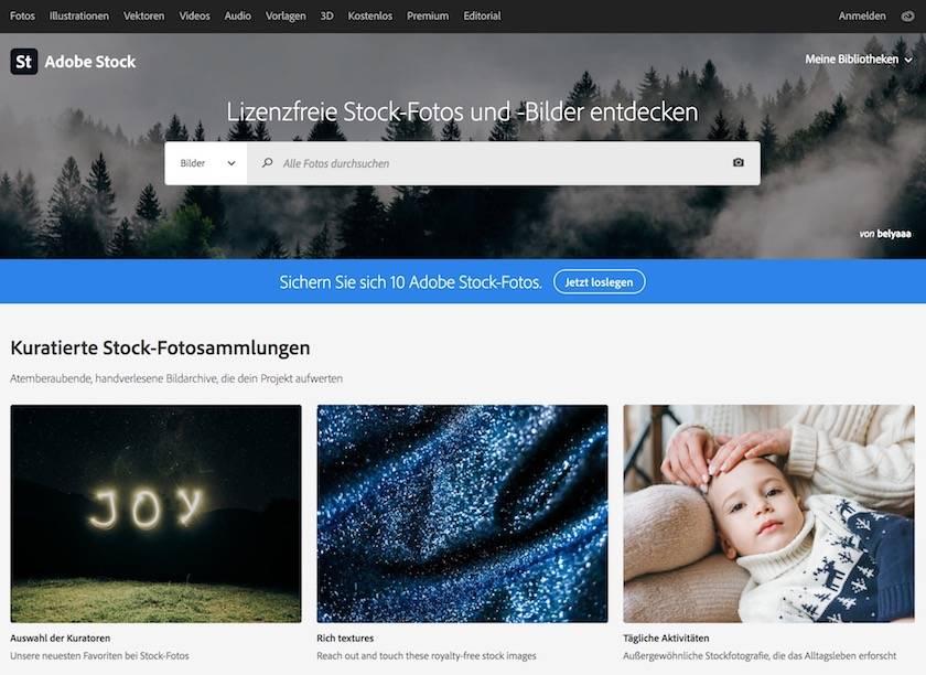 Adobe Creative Cloud Preise erklärt: Finden Sie  das passende Angebot für sich - adobestock startseite