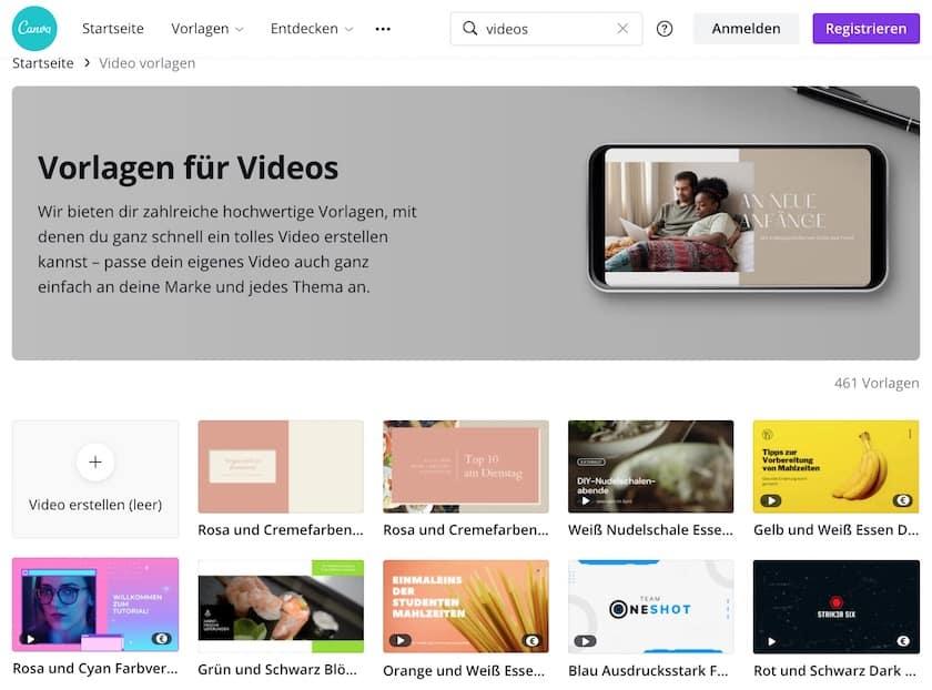 16 Adobe Spark-Alternativen 2021 für Grafiken, Webseiten und Video - canva video vorlagen