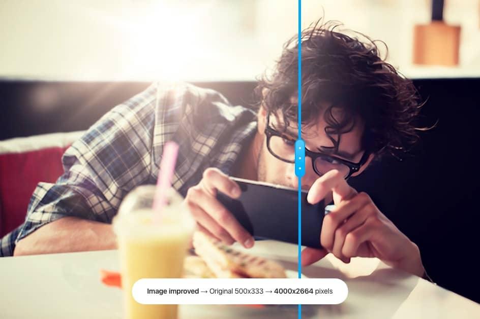 Neu! Mit Upscaler höhere Bildauflösung erhalten! - Stockphotos Image Upscaler Sample Preview