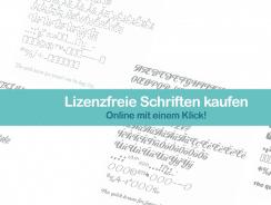 Lizenzfreie Schriften kaufen – online mit einem Klick!