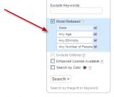 Shutterstock – Neuer Filter nach Model Daten